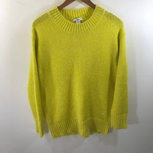 Bar III Yellow Mohair Sweater Size M